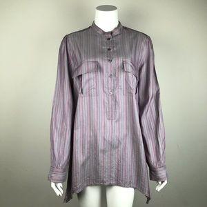 Elizabeth & James longsleeve Purple Striped Blouse